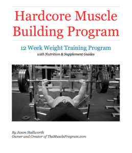 Hardcore Muscle Building Program cover MASTER