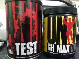 Universal Nutrition Animal Test and GH Max Stack for gains
