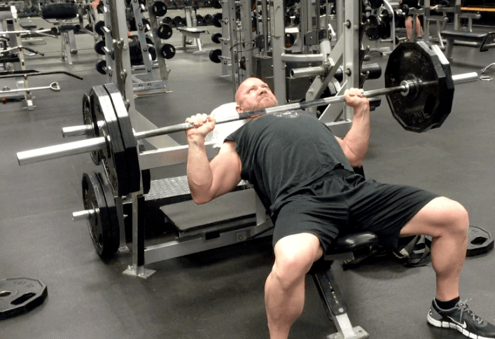 upper chest workout incline bench press