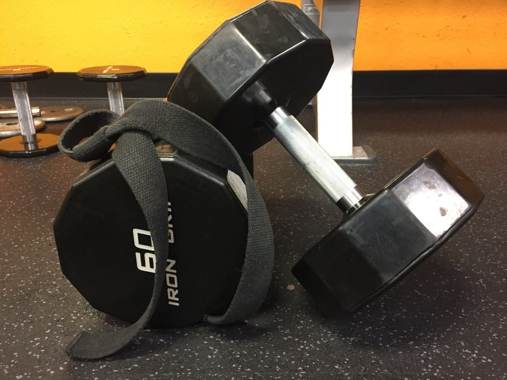 dumbbells with straps 60s
