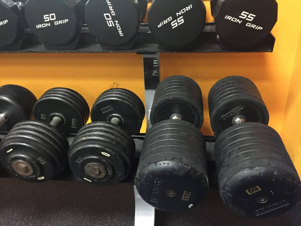dumbbells heavy light high reps low reps