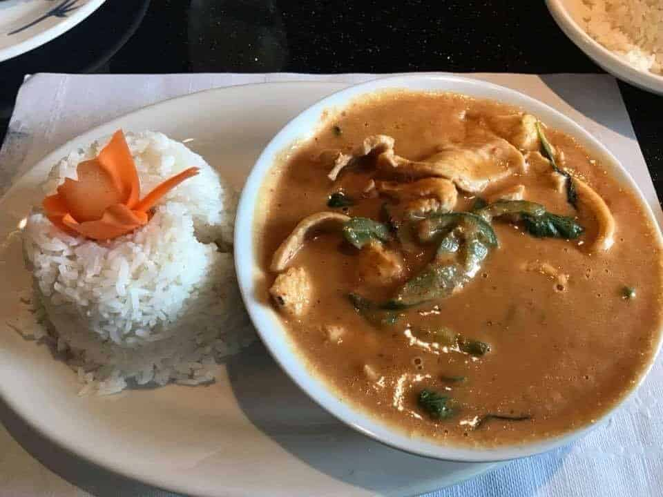 3500 calorie meal plan Thai panang curry chicken and rice