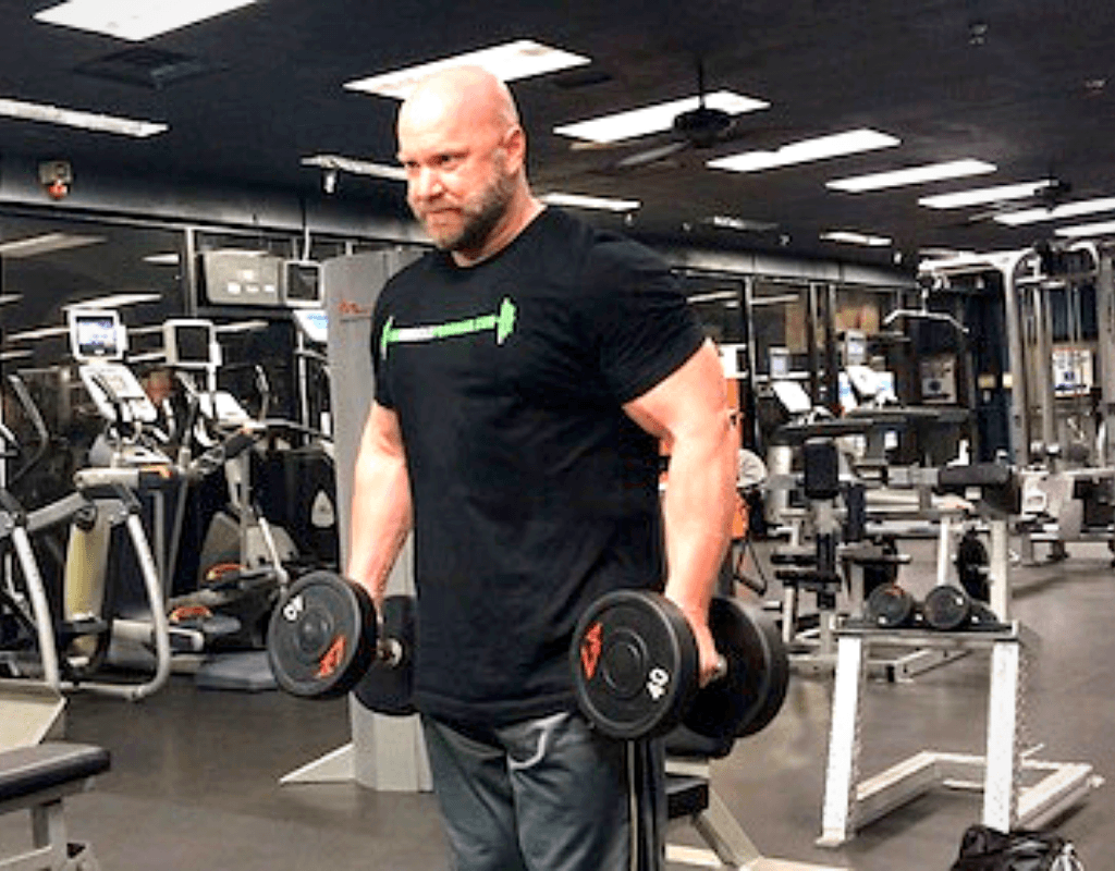 working out at the gym bodybuilding
