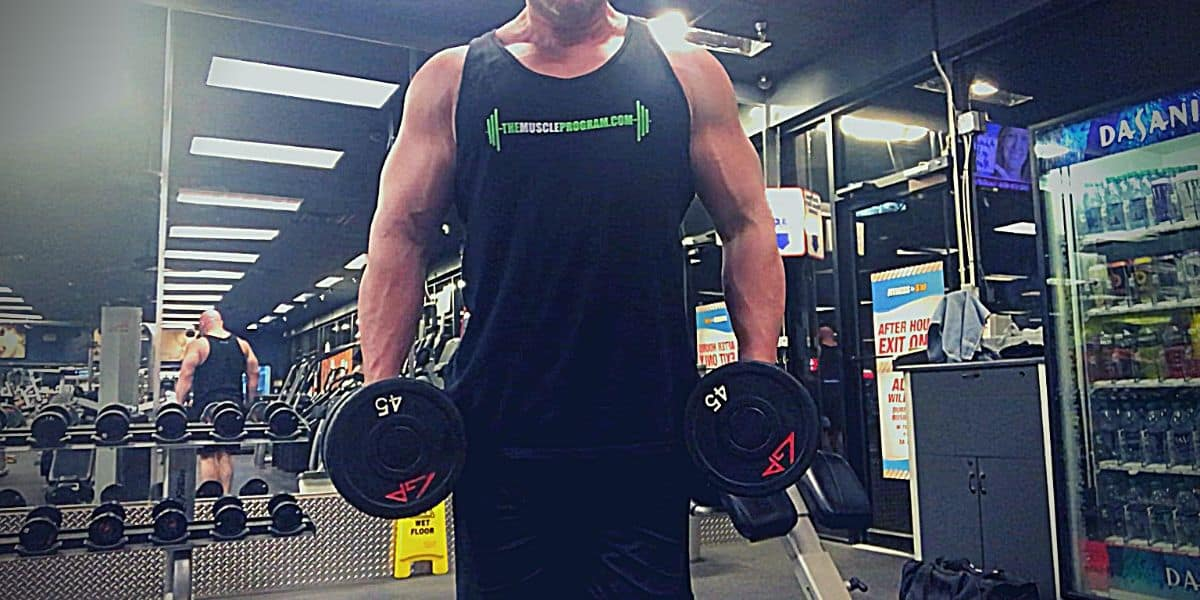 Massive arm workout hammer curls
