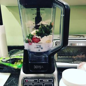 plant based post workout smoothie shake