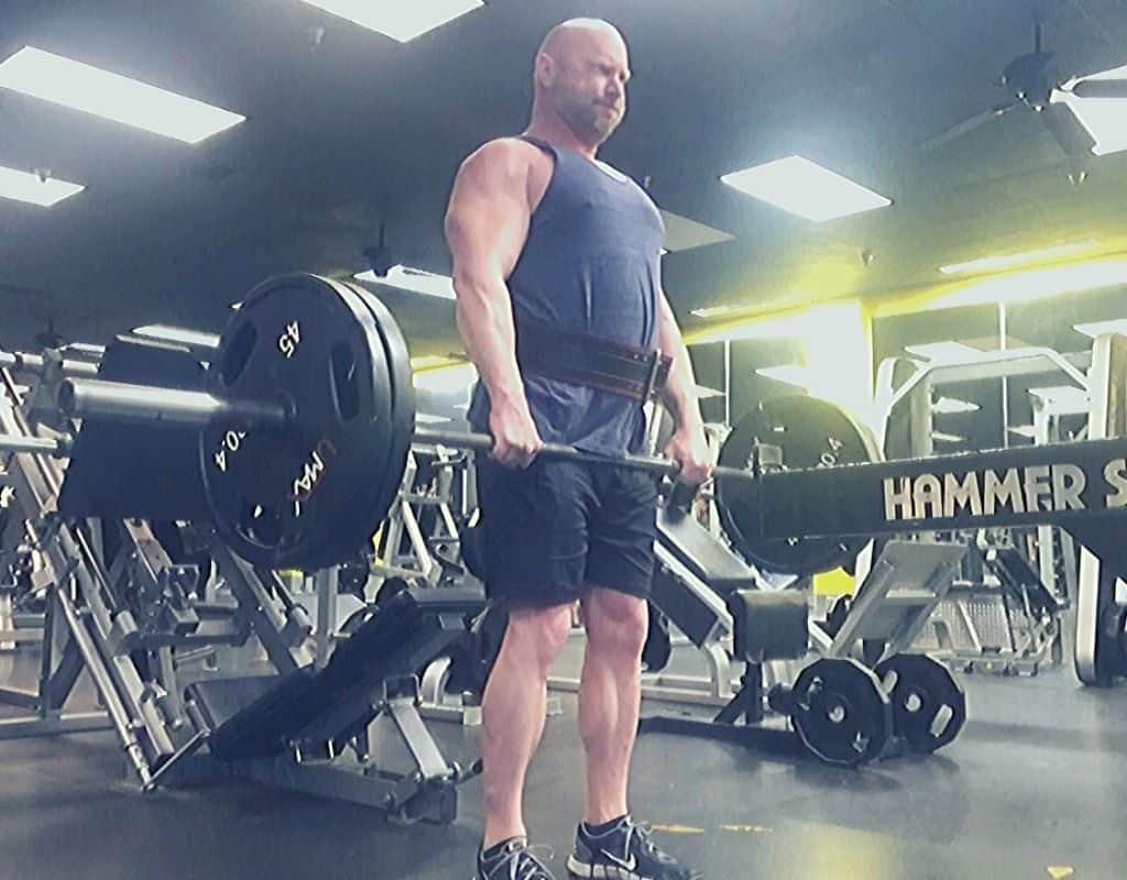 Stiff Leg Deadlifts back and hamstrings workout