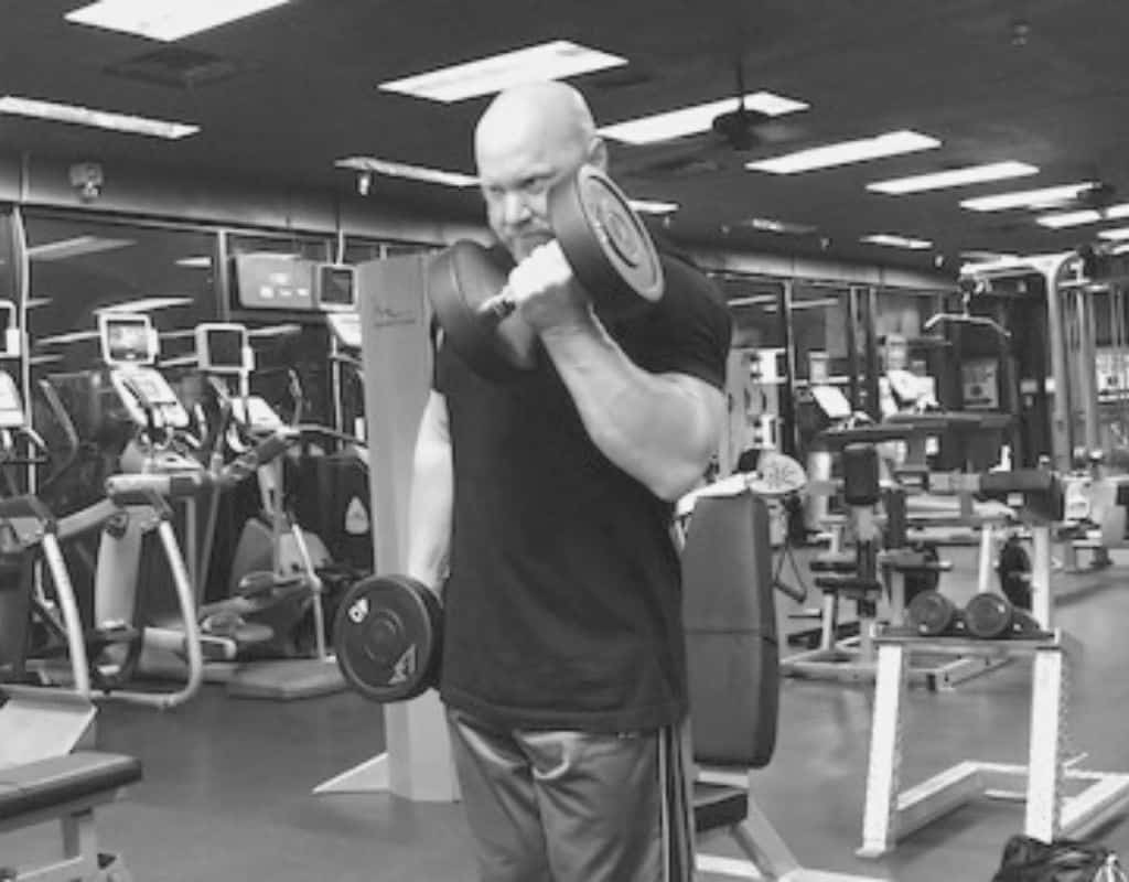 Alternate dumbbell curls - bw