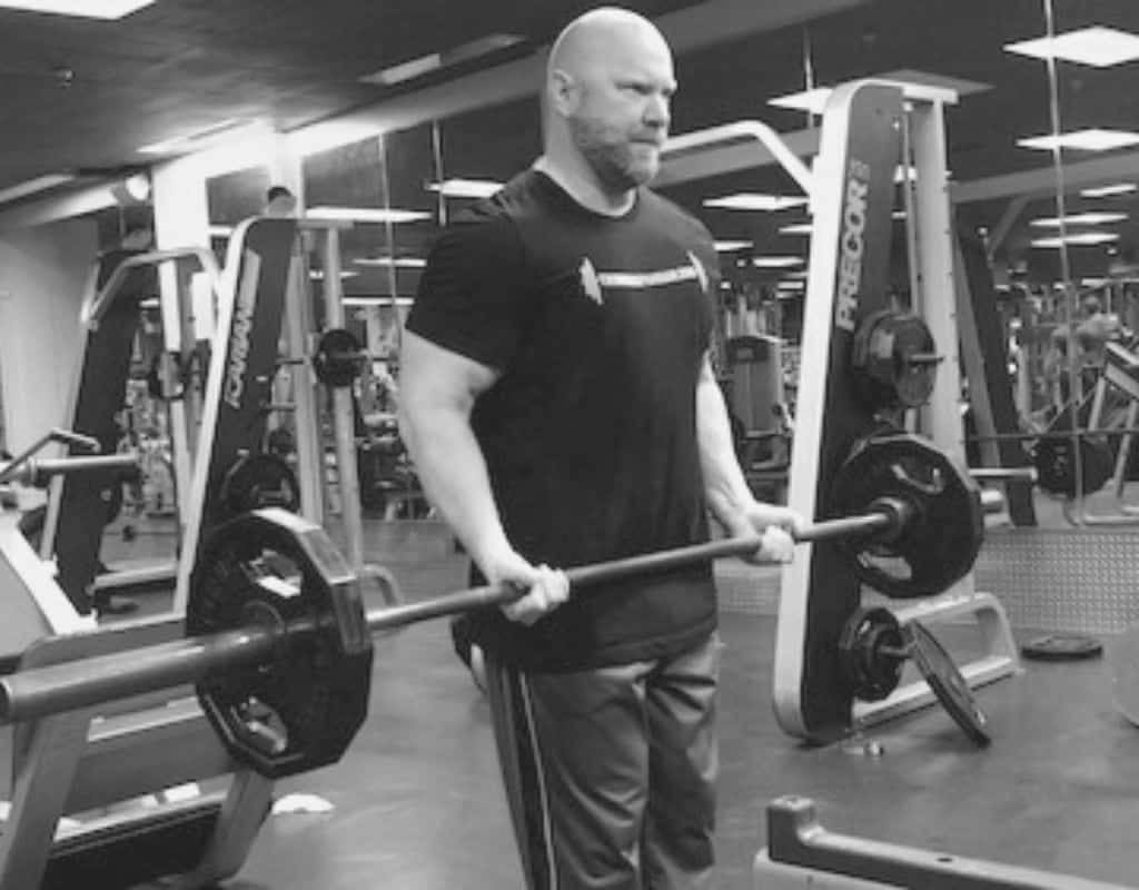 Barbell curls - bw