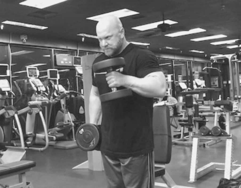 Dumbbell hammer curls - bw