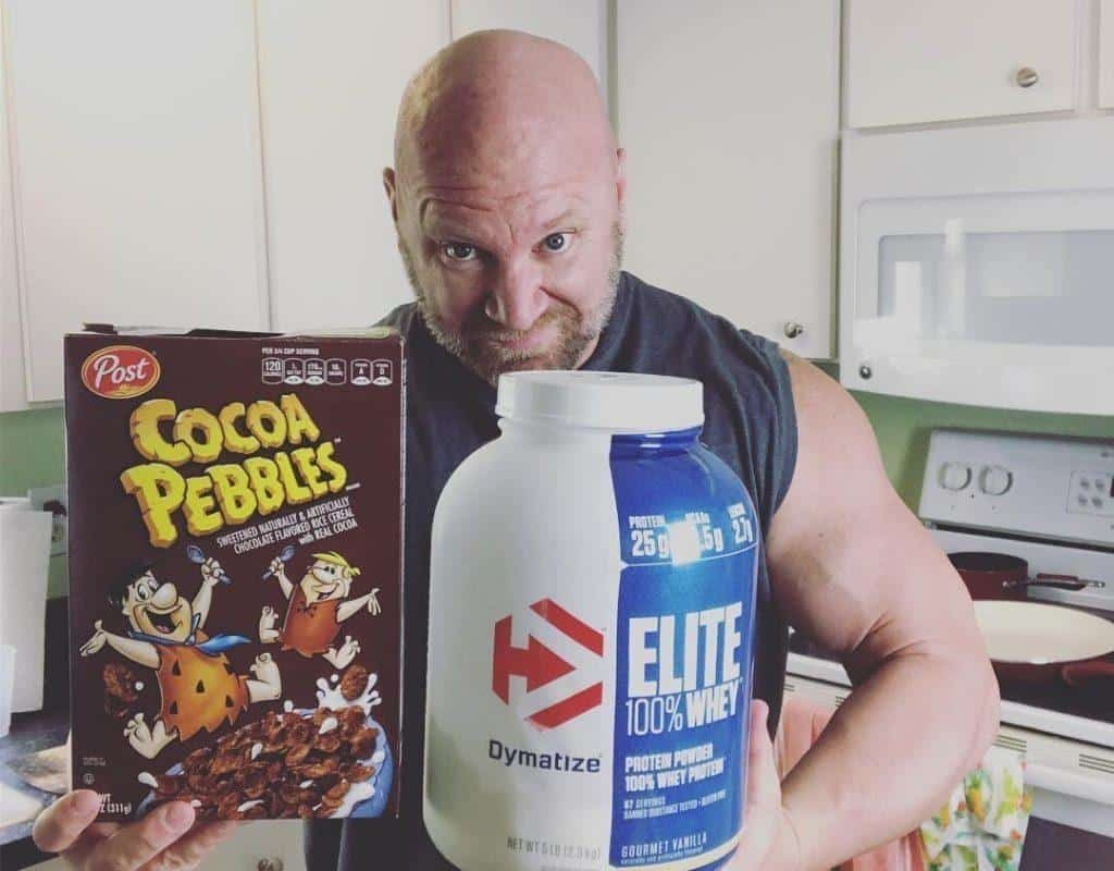 protein powder with cereal