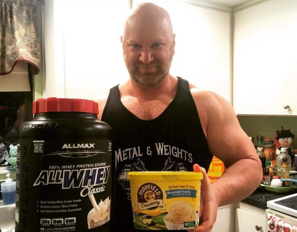 protein powder with ice cream