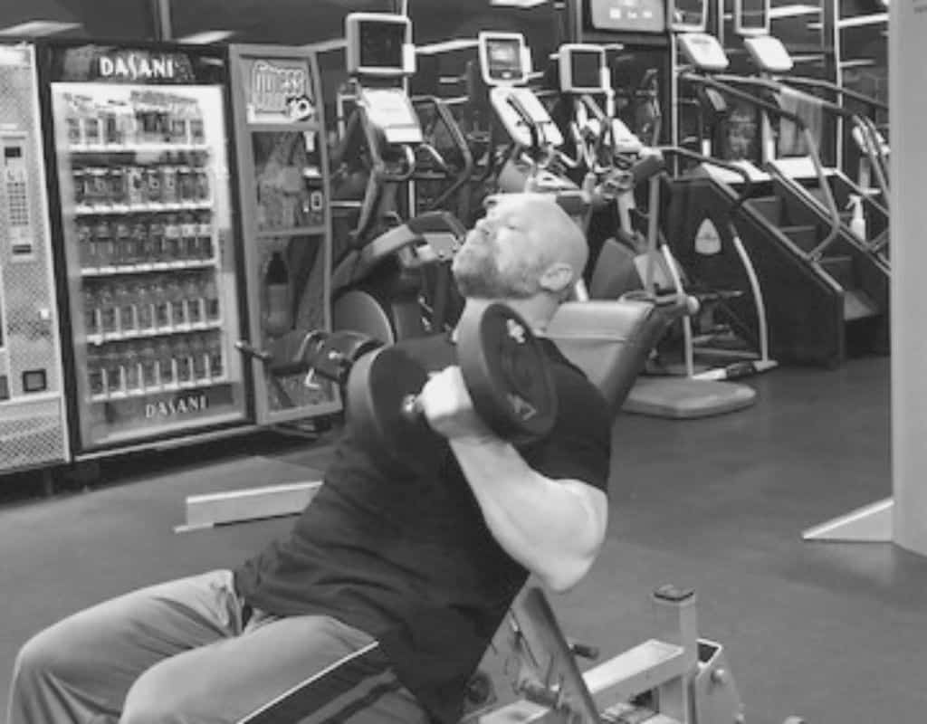 Seated incline curls - bw