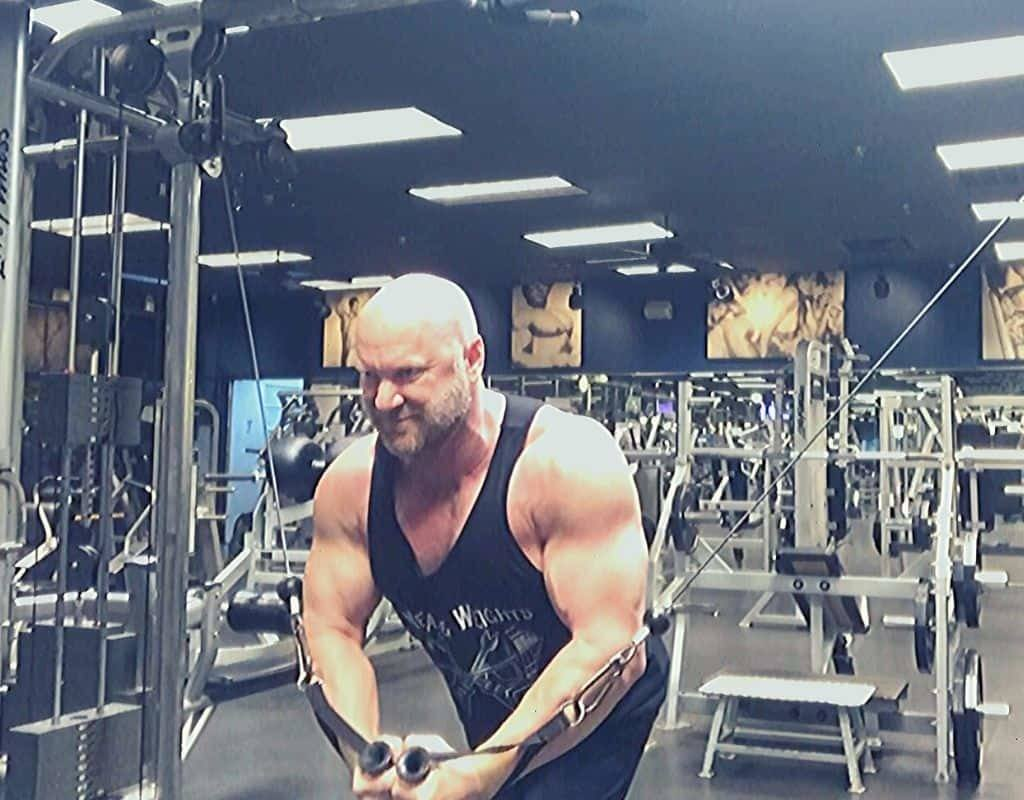Cable flyes crossovers for ripped chest