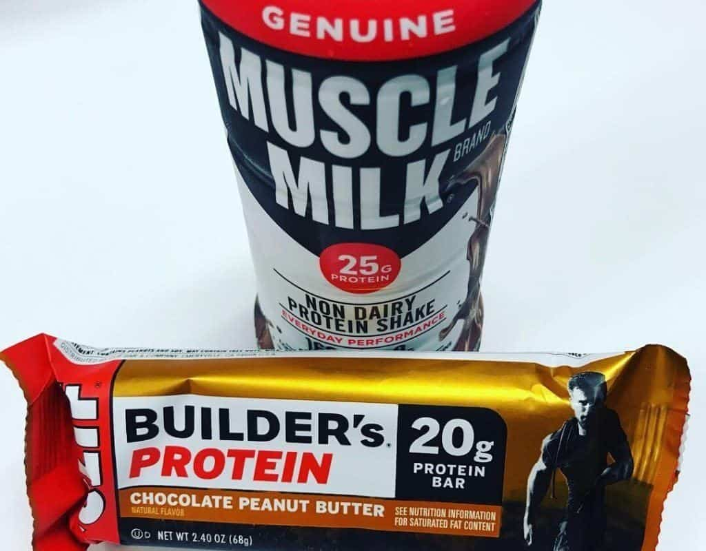Muscle Milk and Builders Protein bar