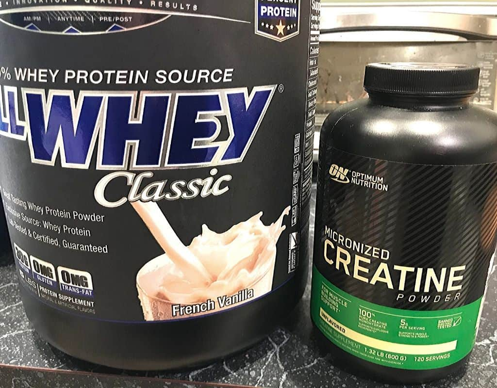 Supplements - whey protein and creatine