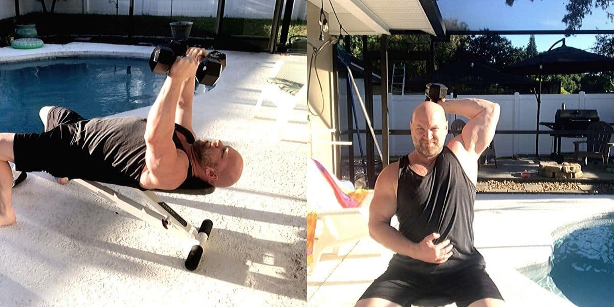 Chest and Triceps Workout at Home with Dumbbells