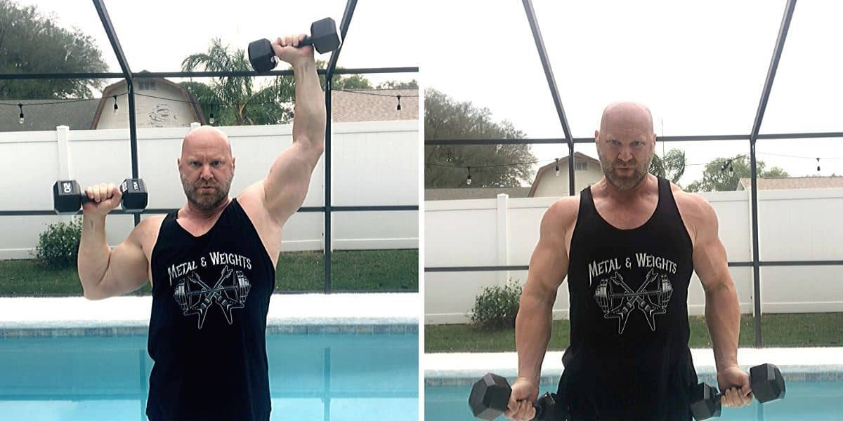 Shoulders and Arms Workout At Home With Dumbbells