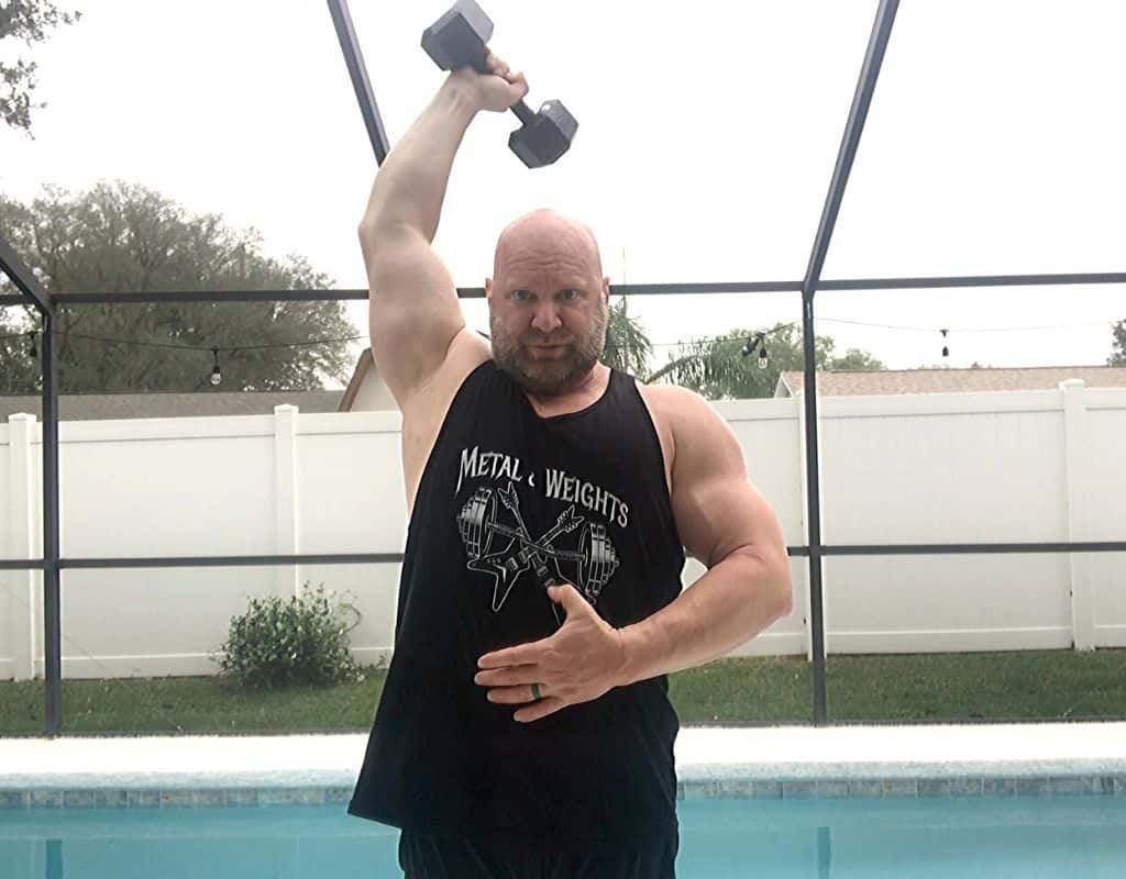Triceps - Dumbbell single arm Overhead Extensions2