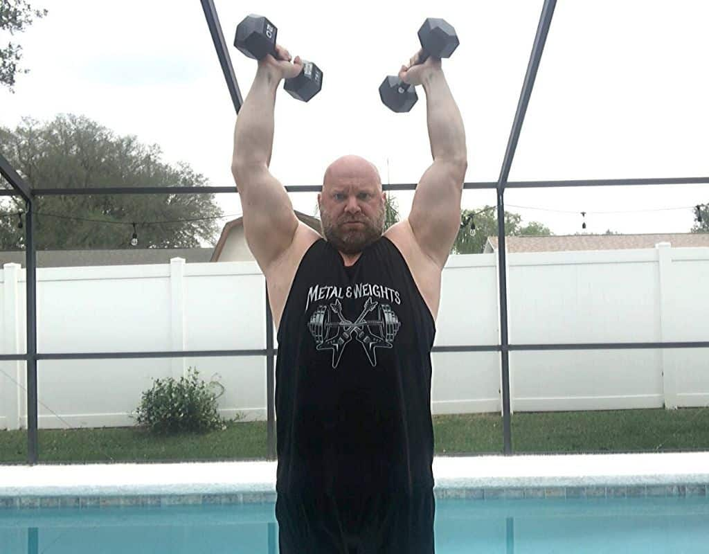 Triceps - Dumbbell Overhead Extensions1