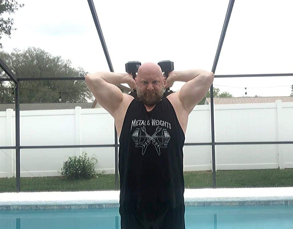 Triceps - Dumbbell Overhead Extensions2