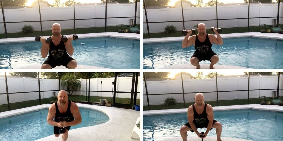 Variations of Dumbbell Squats for Leg Workouts at Home