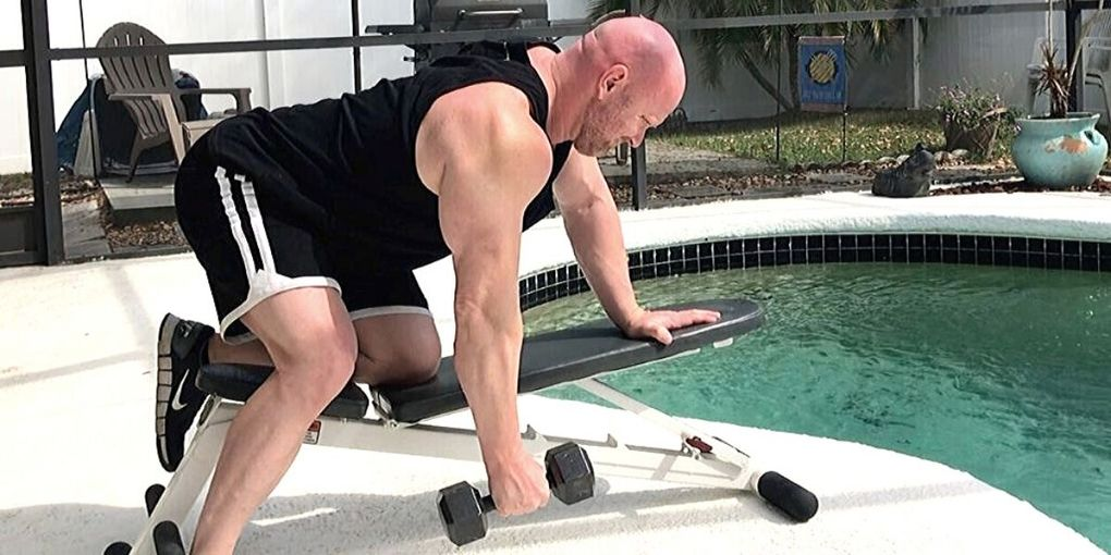 intense back workout at home with light dumbbells