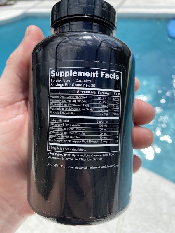 TestoFIERCE label ingredient