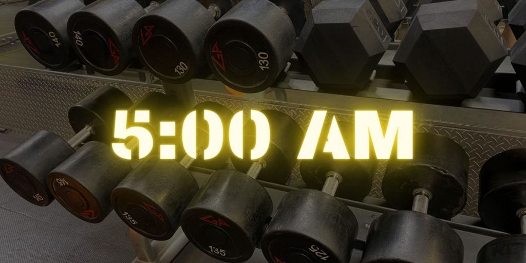 motivation for early morning workouts