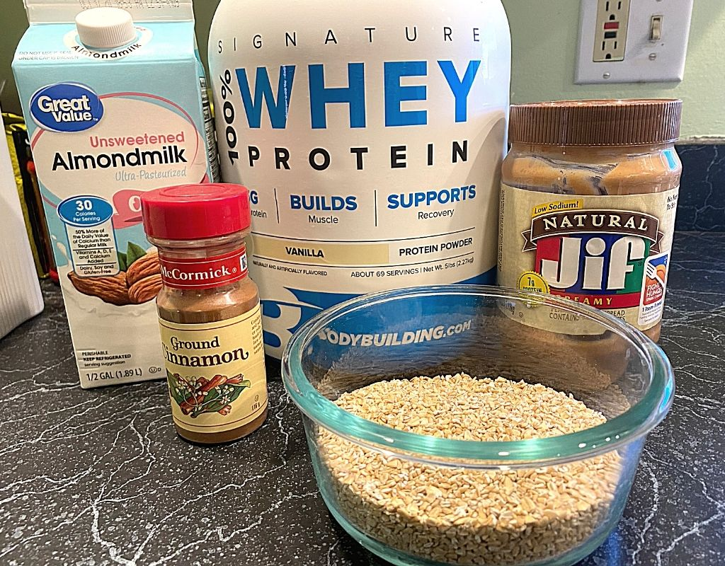 pre-workout meal ingredients protein and oats