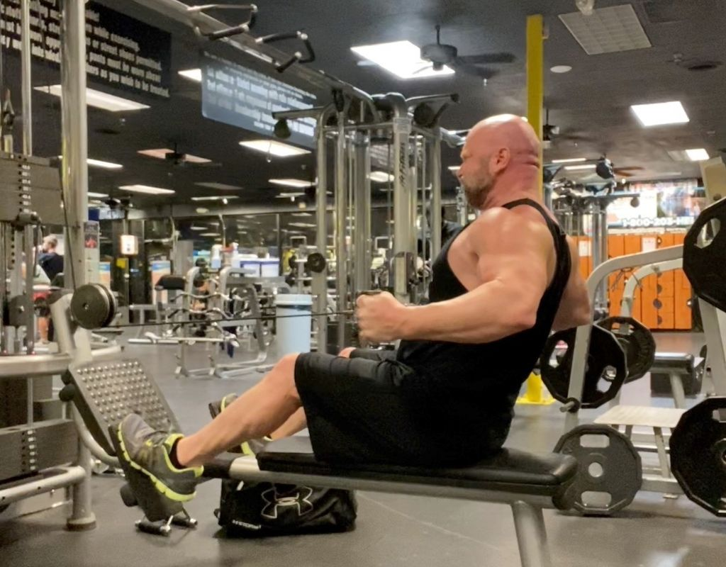 wide grip seated rows - back exercises