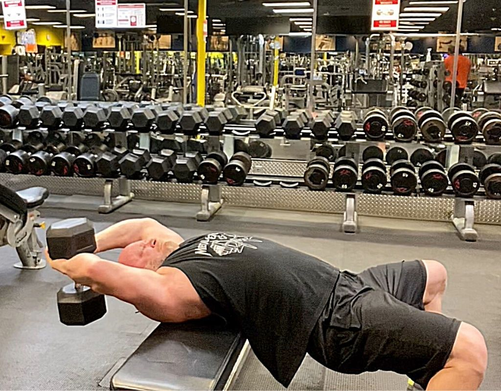 Dumbbell Pullovers chest
