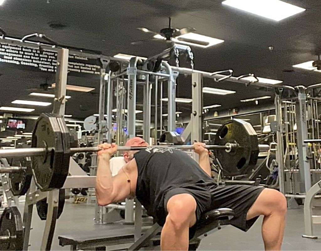 Incline Barbell Press chest