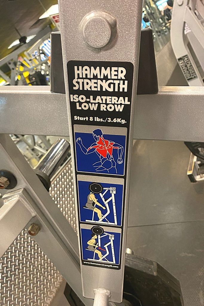 hammer strength iso-lateral low row machine